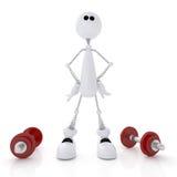 atleta de la persona 3d. Foto de archivo libre de regalías