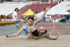 Atleta de la triple salto Fotografía de archivo