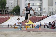 Atleta de la triple salto - Marian Oprea Imágenes de archivo libres de regalías