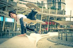 Atleta de Parkour fotos de stock royalty free