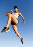 Atleta de salto imágenes de archivo libres de regalías