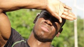Atleta de sexo masculino Bright Sunlight fotografía de archivo