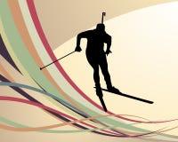 Atleta del Biathlon Immagini Stock