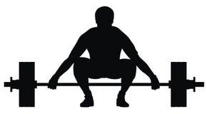 Atleta del levantador de peso Foto de archivo
