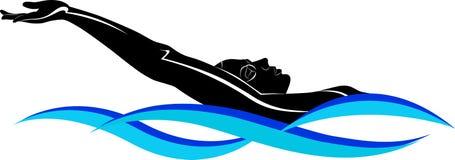 Atleta del nadador stock de ilustración