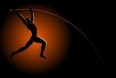 Atleta del salto con l'asta royalty illustrazione gratis