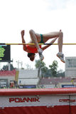 Atleta del salto de altura Imagenes de archivo