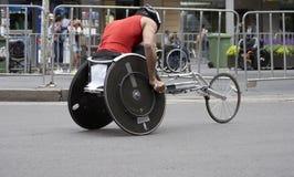 Atleta della sedia a rotelle Fotografie Stock Libere da Diritti