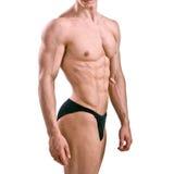 Atleta desnudo con el cuerpo fuerte Foto de archivo libre de regalías
