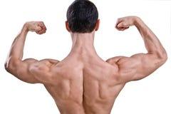 Atleta despido com corpo forte fotos de stock