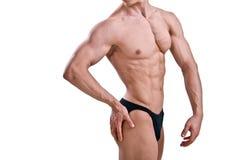 Atleta despido com corpo forte imagens de stock royalty free