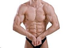 Atleta despido com corpo forte fotografia de stock royalty free