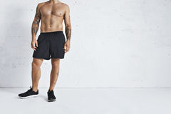 Atleta di ginnastica che prende una rottura Fotografie Stock