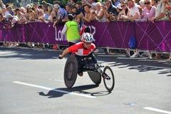 Atleta di Paralympic, rotelle fotografia stock libera da diritti