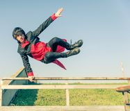 Atleta di Parkour Fotografia Stock Libera da Diritti
