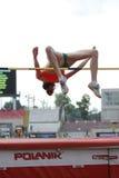 Atleta di salto in alto Immagini Stock