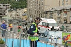 Atleta di triathlon Fotografia Stock Libera da Diritti