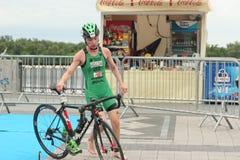 Atleta di triathlon Immagine Stock Libera da Diritti