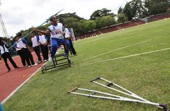 Atleta disabile Fotografie Stock Libere da Diritti