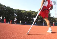 Atleta discapacitado Imagen de archivo libre de regalías