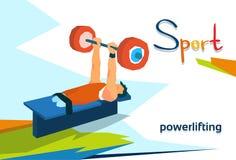 Atleta discapacitado Powerlifting Sport Competition Fotografía de archivo
