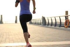Atleta do corredor que corre no beira-mar Fotos de Stock