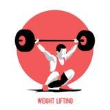 Atleta do levantamento de peso Imagens de Stock