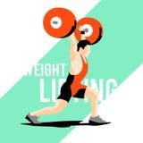 Atleta do levantamento de peso Imagem de Stock