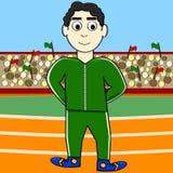 Atleta dos desenhos animados Imagens de Stock Royalty Free