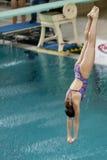 Atleta durante campeonatos del salto Imagenes de archivo