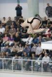 Atleta durante i campionati di immersione subacquea Fotografia Stock Libera da Diritti