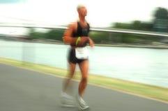 Atleta en Francfort Ironman 2008 imagen de archivo libre de regalías
