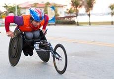 Atleta en sillón de ruedas Fotografía de archivo libre de regalías