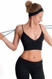 Atleta esile della donna che fa allenamento di forma fisica Immagine Stock Libera da Diritti