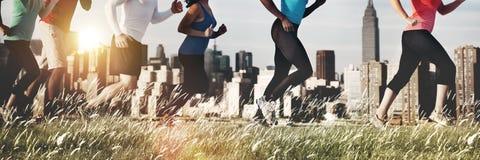 Atleta exterior movimentando-se de corrida Healthy Concept do exercício Imagens de Stock Royalty Free