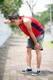 Atleta faticoso Fotografia Stock