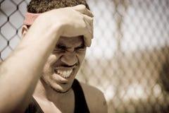 Atleta frustrante fotografia de stock royalty free
