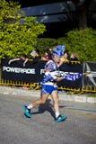 Atleta griego del maratón Imágenes de archivo libres de regalías