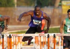 Atleta jamaicano Dwight Thomas Imagenes de archivo