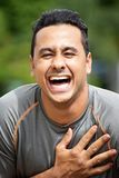 Atleta Laughing del maschio adulto Fotografia Stock Libera da Diritti