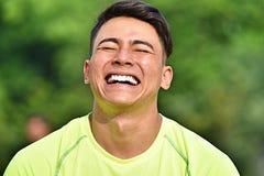 Atleta And Laughter do homem adulto foto de stock royalty free