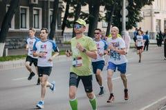 Atleta męski bieg Fotografia Stock