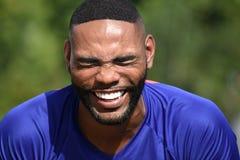 Atleta maschio Laughing Fotografia Stock Libera da Diritti
