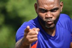 Atleta masculino africano virado fotografia de stock