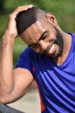 Atleta masculino And Laughter imagens de stock