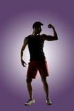 Atleta masculino novo fotografia de stock