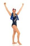 Atleta, nadador de sexo femenino Foto de archivo libre de regalías