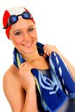 Atleta, nadador fêmea fotografia de stock