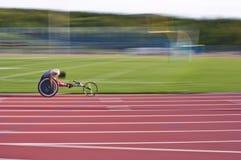 Competir con la silla de ruedas Foto de archivo libre de regalías