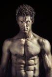 Atleta novo com grande corpo Fotos de Stock Royalty Free